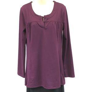 Magellan Sportswear plum long sleeve tunic